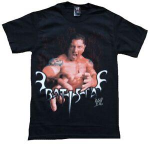 Official Merchandise BATISTA Hands WWE World Wrestling Entertainment T-Shirt S