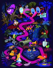 Disney WonderGround Gallery Alice in Wonderland LOST Postcard by Chris Lee New