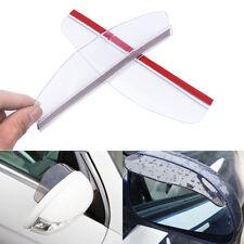 2x Universal Car Rear View Side Mirror Rain Board White Sun Visor Shade Shield l
