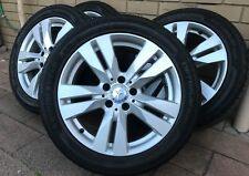"""Genuine Mercedes Benz C & E - CLASS 17"""" Alloy Wheels Rims 70% TYRES - STAGGERED"""