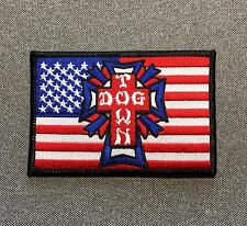 Dogtown Skateboard Flag Patch 4in Adhesive Iron on Patch Dog Town si