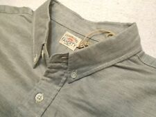 Faherty 100% Cotton Gray Oxford Ventura Long Sleeve Sport Shirt NWT XL $128