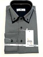 Herren Streifen Langärmlig Formelles Hemd Freizeit Business Büro Kleidung (471