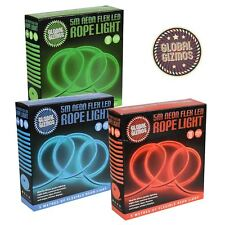 Flexible Neon LED Light Glow 5m String Strip Rope Tube Christmas Party