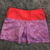 Adidas Women's Skort Size Small Athletic Gear Pink Orange Summer