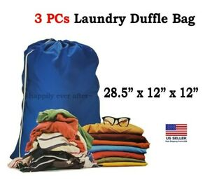 3 PCs Large Laundry Duffle Bag, Washable & Reusable, Colors may vary *US SELLER*