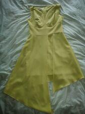 ARTFROCK yellow assymetric dress Sz 14