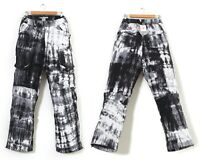 Mens NIKE ACG Storm Fit Snowboarding Ski Pants Patterned White Black Size 2XL