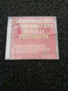 NATIONAL ROLL OF THE GREAT WAR 1914-1918 PORTSMOUTH SECTION CD ROM. COLLECTIBLE.