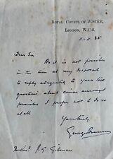 SIR GEO BRANSON G/FATHER RICHARD , HIGH COURT JUDGE VARSITY ROWER CAMBRIDGE 1893
