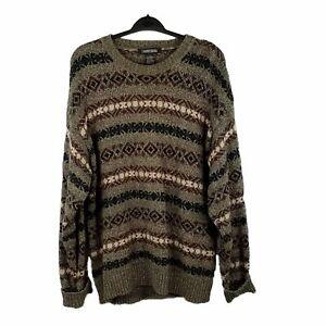 Jantzen Men's Gray Navy Burgundy with White Sweater Size XL - EUC!!!