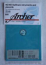 Archer 1/35 M2 / M3 Half-track Instruments & Placards (4 sets) (Dragon) AR35230