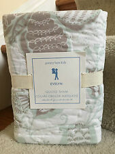 NIP POTTERY BARN KIDS EVELYN BUTTERFLY GREEN QUILTED STANDARD SHAM 20 X 26 INCH
