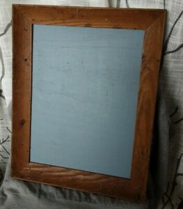 Vintage worm wood Framed Chalkboard in blue 15x19 memo notes