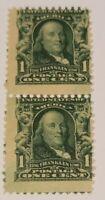 Scott#: 300 - Benjamin Franklin Mint OG MNH Pair  - Lot 3