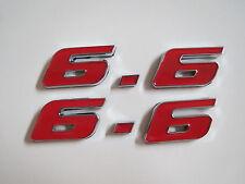 DODGE 6.6 6.6L 400 CID ENGINE ID FENDER HOOD SCOOP QUARTER TRUNK EMBLEMS - RED
