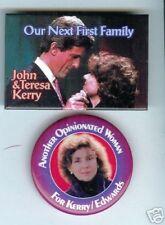 2 TERESA + John KERRY 2004 pins