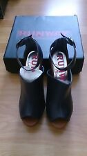 Navy Platform Shoes, size 6, Runway Collection from Next