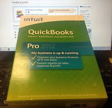 INTUIT QUICKBOOKS PRO 2012 WINDOWS NEW SEALED RETAIL BOX SMALL BUSINESS