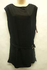 """*NWT Stunning Anne Klein Black Sleeveless""""Tunic"""" w/ Adjustable Waist Tie- sz S"""