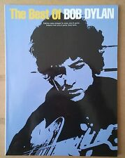 Bob Dylan The Best Of Libro edición inglesa partituras para guitarra