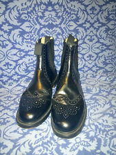 NPS Handmade Black Leather Brogue Boots Size 12