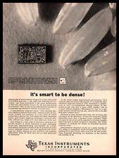 1965 Texas Instruments Dallas TX Integrated Circuits Semiconductor Chip Print Ad
