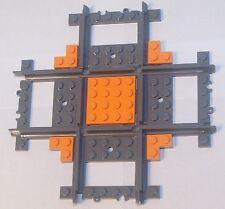 Custom Lego 90 Deg Crossing / Crossover Track (orange) Power Function & RC Train
