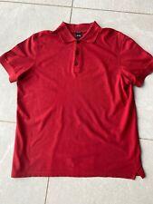 Mens Hugo Boss Used Red Size Medium M Pima Cotton Polo T Shirt