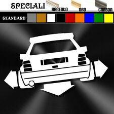 adesivo sticker LANCIA DELTA HF integrale tuning down-out decal prespaziato,auto