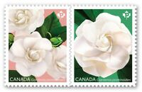 GARDENIA flower = Se-Tenant Pair cut from booklet Canada 2019 #3169-70 MNH