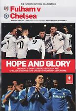 Youth Cup Final 2014 Fulham V Chelsea 1ST Jambe programme 2013/14
