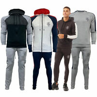 Mens Jogger Sweatshirt Tracksuits By Brave Soul Hooded Bottoms Top Pullover New