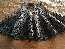 Perfect for Anytime! ALAIA Gray Leopard Full Circle Dress Skirt 42 NWOT
