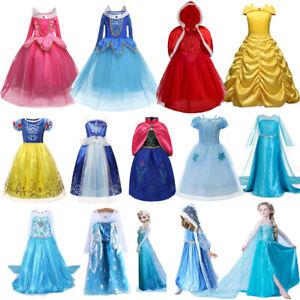 Kinder Halloween Kostüm Mädchen Prinzessin Kleid Elsa Anna Belle Cosplay Kleid