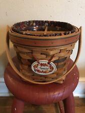 Longaberger 1996 Shades of Autumn Maple Leaf Basket Combo