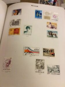 Album Page Of  Lightly Hinged  Stamps Belgium Sheet 19 Years 1975-1976