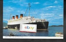 CUNARD LINE R.M.S.QUEEN MARY 1967 LAST GREAT CRUISE VALPARISO,CHILE POSTCARD