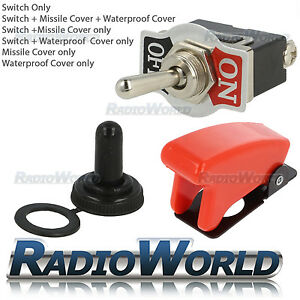Heavy Duty Toggle Switch / Flick 12V ON/OFF Car Light SPST Missile / Water Cover