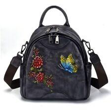Women Genuine Cow Leather Backpack Shouler Bag Handbag Cross Body Travel Bag