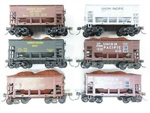 LOT of 6 HO Scale Roundhouse UP Union Pacific Ore Cars