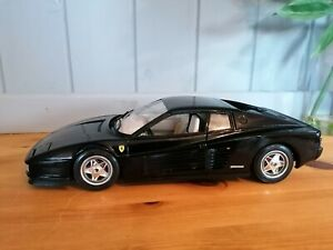 Ferrari Testarossa 1984 Black with added Scuderia side shields 1:18 Bburago