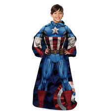 Marvel Avengers Captain America Comfortable Kids Blanket w/ Sleeves 48'' x 48''