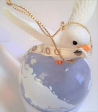 """New! ~ Fitz & Floyd Charming Tails """"Peace on Earth"""" Millennium Ornament Dove"""