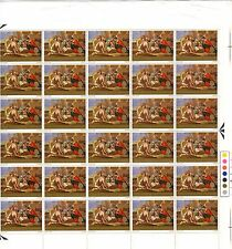 1967 - 1s6d - Christmas Louis Le Nain Full Sheet 60 Stamps VERY REAR (ref r001)