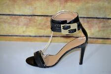 Nine West Estrilada Womens Ankle Cuff High Heel Leather Open Toe Sandals 6.5M