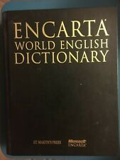 Hardcover Encarta World English Dictionary Microsoft 1999 Reference Thumb Tabs