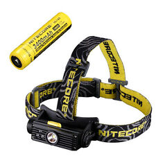 Nitecore HC90 Rechargeable XM-L2 Headlamp w/NL189 Rechargeable 18650 Battery
