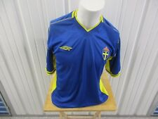 VINTAGE UMBRO SWEDEN NATIONAL TEAM LARGE SEWN BLUE/AWAY JERSEY 2003/2004 KIT
