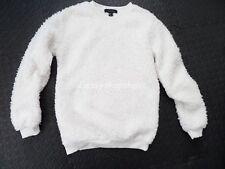 Primark Atmosphere Cream Fluffy Teddy Sweatshirt - Size 8 - BNWOT